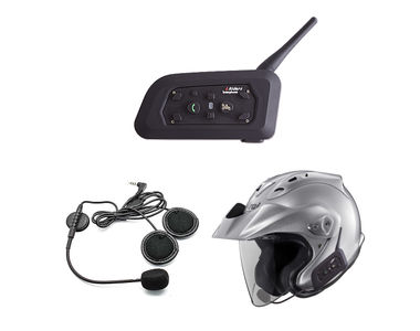 Speedwav V6 Bike Helmet Bluetooth Headset for Call/Music/Intercom