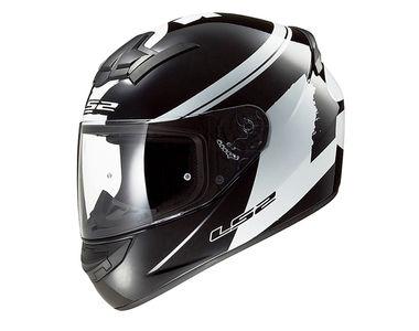 LS2 Helmet - FF350-L Bulky Matt Black and White