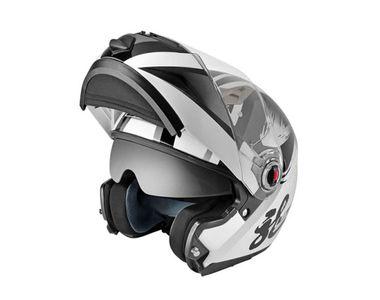 LS2 Flip-up Helmet - FF370-L Glossy White Grey