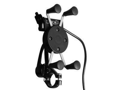Speedwav Bike X-Grip Mobile Phone Holder with USB Charger