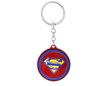 Superman Spin Keychain-Red,Blue