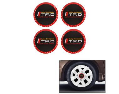 Speedwav Car TRD Logo Emblem Wheel Center Hub Caps Sticker-Black Red