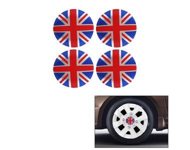Speedwav Car British Flag Emblem Wheel Center Hub Caps Sticker