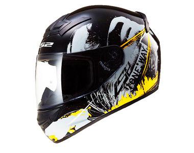LS2 Helmet - FF352-L Rookie One Glossy Black Yellow