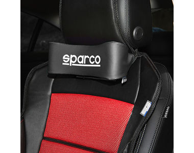 Sparco Car Seat Comfortable Neck Support Pillow Set of 2-Black