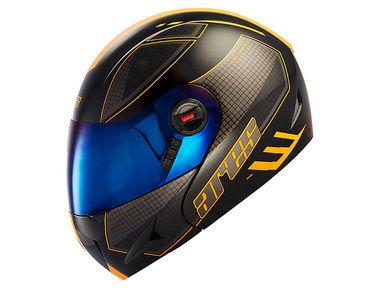 Steelbird Flip-Up Helmet - A1 Ares Race - Matt Black