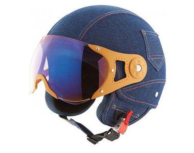 Steelbird Open Face Helmet - A-4 Denim Blue