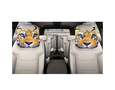 Speedwav Car 3D Animal Headrest Creature Pillow-Tiger