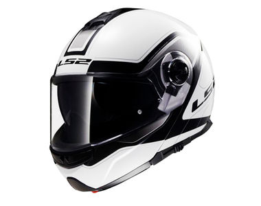 LS2 Helmet FF386-L Armory White-Black Flip-Up