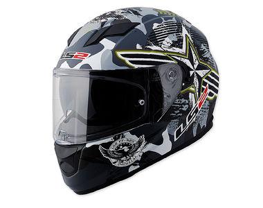 LS2 Helmet FF320-XL Veteran Matt Black Grey
