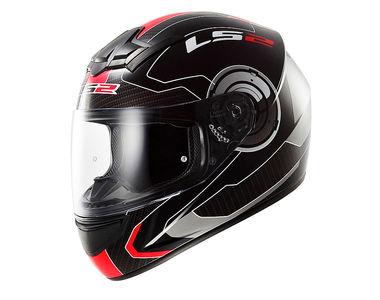 LS2 Helmet FF352 Atmos Matt Black Red