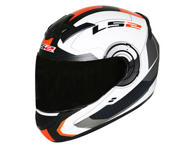 LS2 Helmet FF352-XL -XL Atmos White Orange