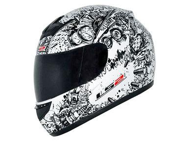 LS2 Helmet FF352-L Lunatic Matt Pearl White