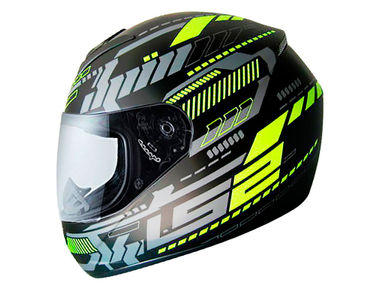 LS2 Helmet FF352-XL Tron Matt Black Yellow