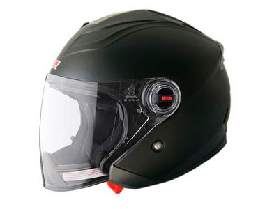 LS2 Helmet OF578 Open Face-Matt Black