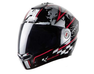 Steelbird Helmet - SB1 Air RACER Glossy Black Red