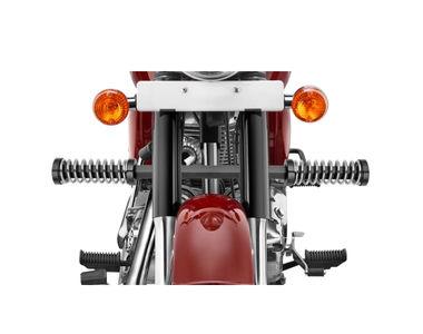 Speedwav Single Rod LG-01 Bike Spring Leg Crash Guard-Black Chrome for Royal Enfield