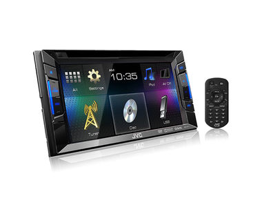 JVC KW-V11 Double DIN Touch Panel Car Media Player DVD/CD/USB/AUX/WAV/MP3