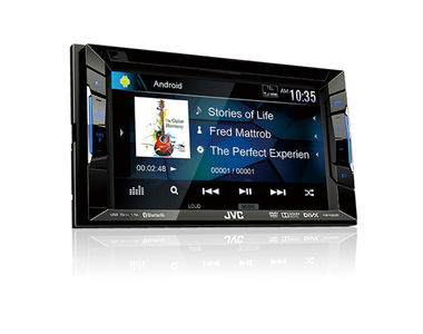 JVC KW-V220BT Double DIN Touch Panel Car Media Player with Bluetooth USB/AUX