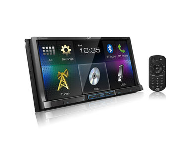 JVC KW-V41BT Double DIN Touch Panel Car Media Player with Bluetooth DVD/CD/USB/AUX
