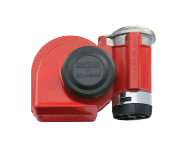 Stebel Nautilus Car Compact Twin Tone Air Horn Red