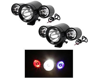 Speedwav Car CREE U3 Triple LED Aux Lights Set of 2-Black