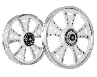 Kingway GSS Fat Boy Bike Alloy Wheel Set of 2 Mirag White CNC
