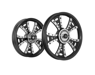 Kingway GSG Fat Boy Bike Alloy Wheel Set of 2 Black CNC