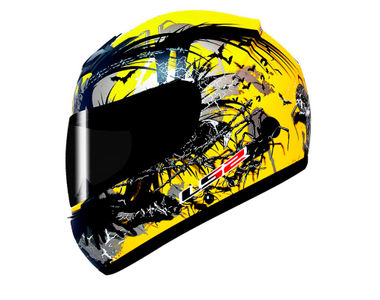 LS2 Helmet Full Face FF352-XL Phobia Matt Yellow