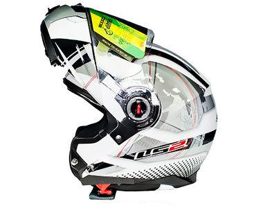 LS2 Helmet Flip-Up FF386-L Universe-Matt Silver