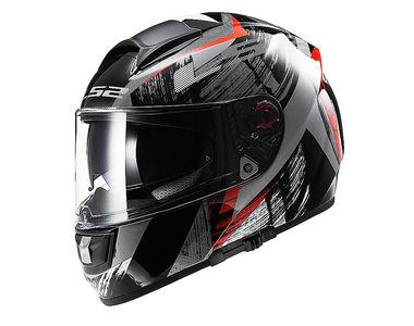 LS2 Helmet Full Face FF397-L Cosmos Matt Black Red