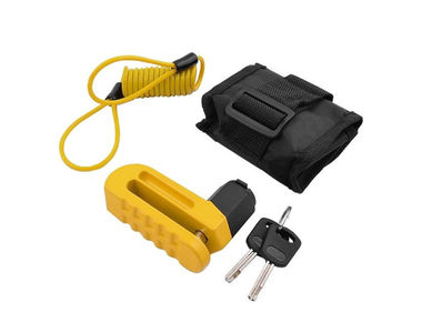 Komine LK-114 Bike Disc Lock-Yellow