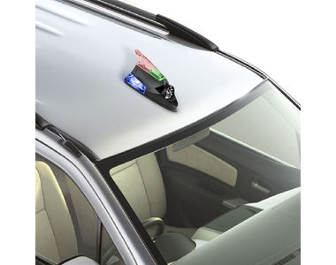 Speedwav Wind Powered LED light Fin Shaped Car Antenna-Black
