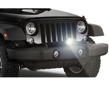 Speedwav Car 7 Inch 60w 12 LED Round Aux Light Black