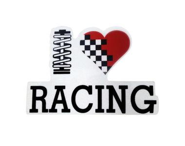 Speedwav Car Bumper Sticker-I Love Racing