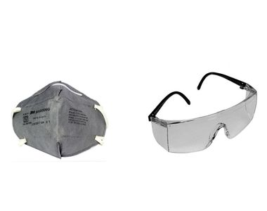 Combo Of 3m Full Eye Cover Bike Riding Goggles With Anti Pollution Face Mask