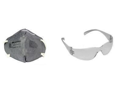 Combo of 3M Stylish Bike Riding Goggles Eyewear+Anti Pollution Face Mask