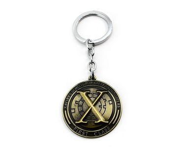 X Men Xavier School First Class Keychain- Ethic Gold