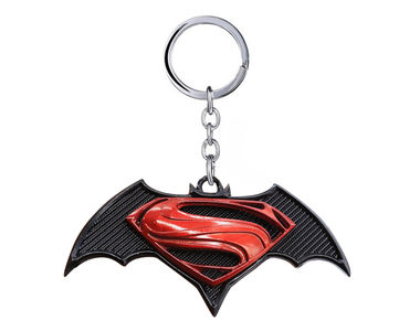 Dawn of Justice 2016 Keychain- Black Wine