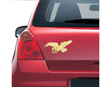 Speedwav Stylish Sticker 3D Decal Badge Eagle-Gold