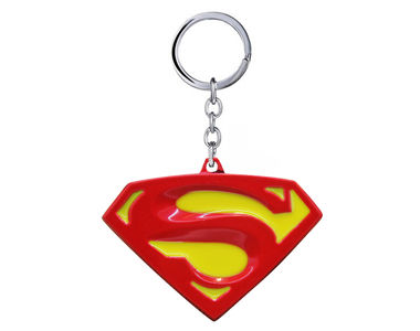 Classic Man of Steel Keychain- Red Yellow
