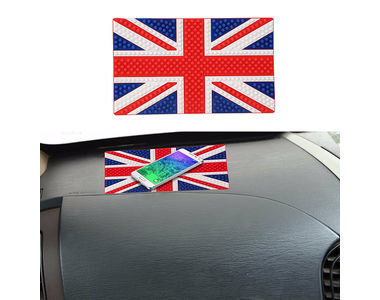 Speedwav Anti-Slip Car Dashboard Decorative Mat-UK Flag