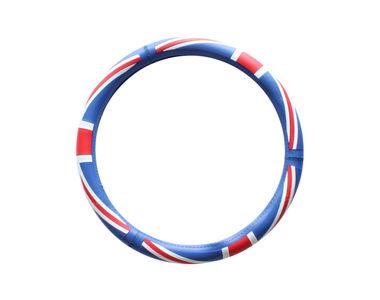 Speedwav D14 UK Flag Steering Wheel Cover-Sky Blue