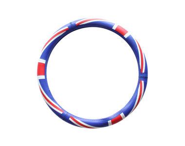 Speedwav D14 UK Flag Steering Wheel Cover-Blue Red