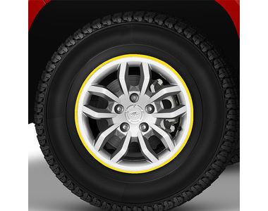 Speedwav 17-20 Inch Car Rim Stickers for 4 Rims-Yellow