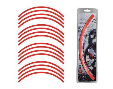Speedwav 14-16 Inch Car Rim Stickers for 4 Rims-Red