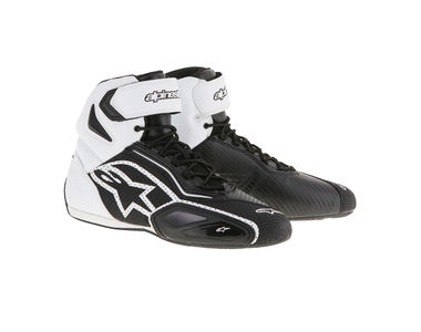 Alpinestars Faster-2 Vented Bike Riding Boots/Shoes-Black & White