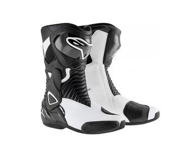 Alpinestars S-MX 6 Bike Riding Boots/Shoes-Black & White