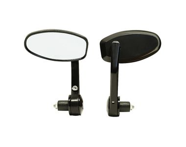 Speedwav Bike Handlebar End Rotatable Rear View Mirror Set of 2 Black