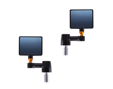 Speedwav Bike Square Handlebar End Rear View Mirror Set of 2-Black